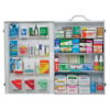 First Aid Kit, 4 Shelf Cabinet, Steel Case Material