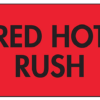"Roll of 2"" x 3"" Shipping Labels - ""Red Hot Rush"""